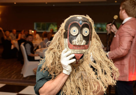 Man wearing mask at Antiques Auction Corporate Event