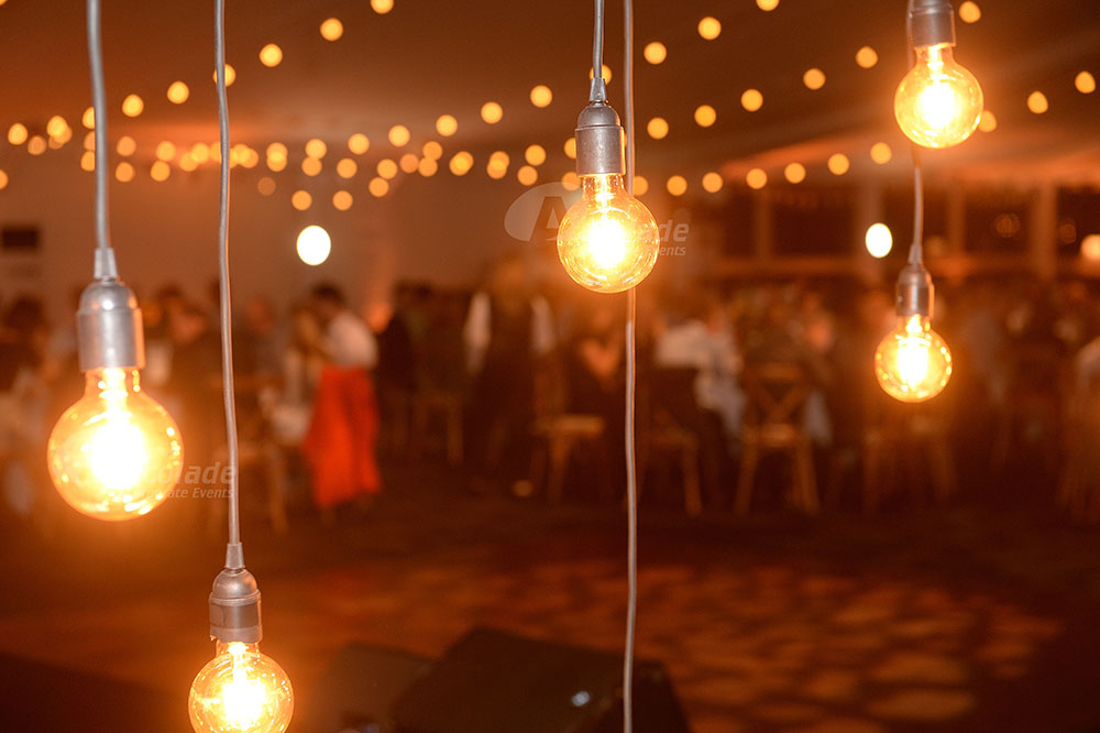 Country Chic Corporate Event Festoon Lights