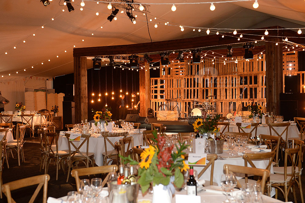Country Chic Corporate Event Setting