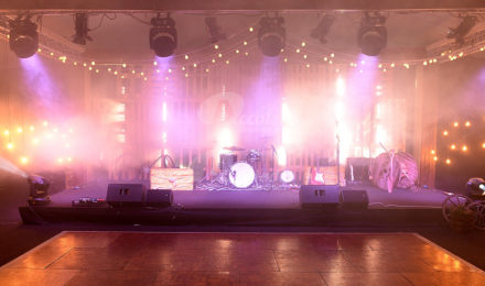 Country Chic Corporate Event Stage Set