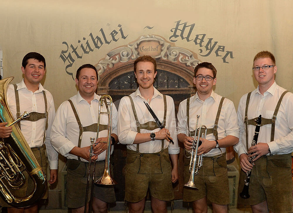 Oompah band posing at German Beer Festival event