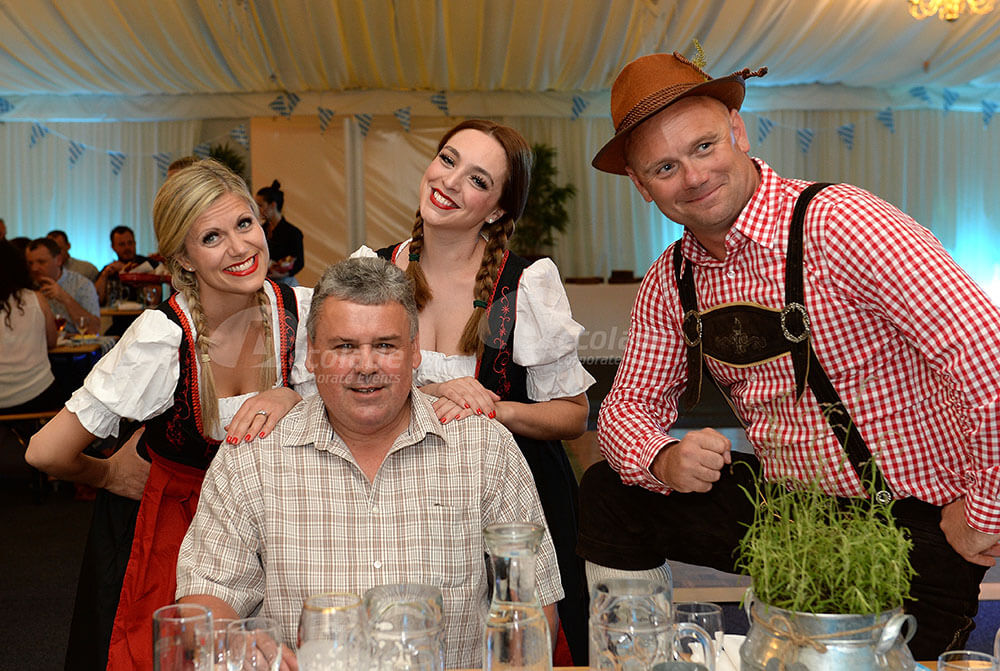 Group having fun at German Beer Festival event
