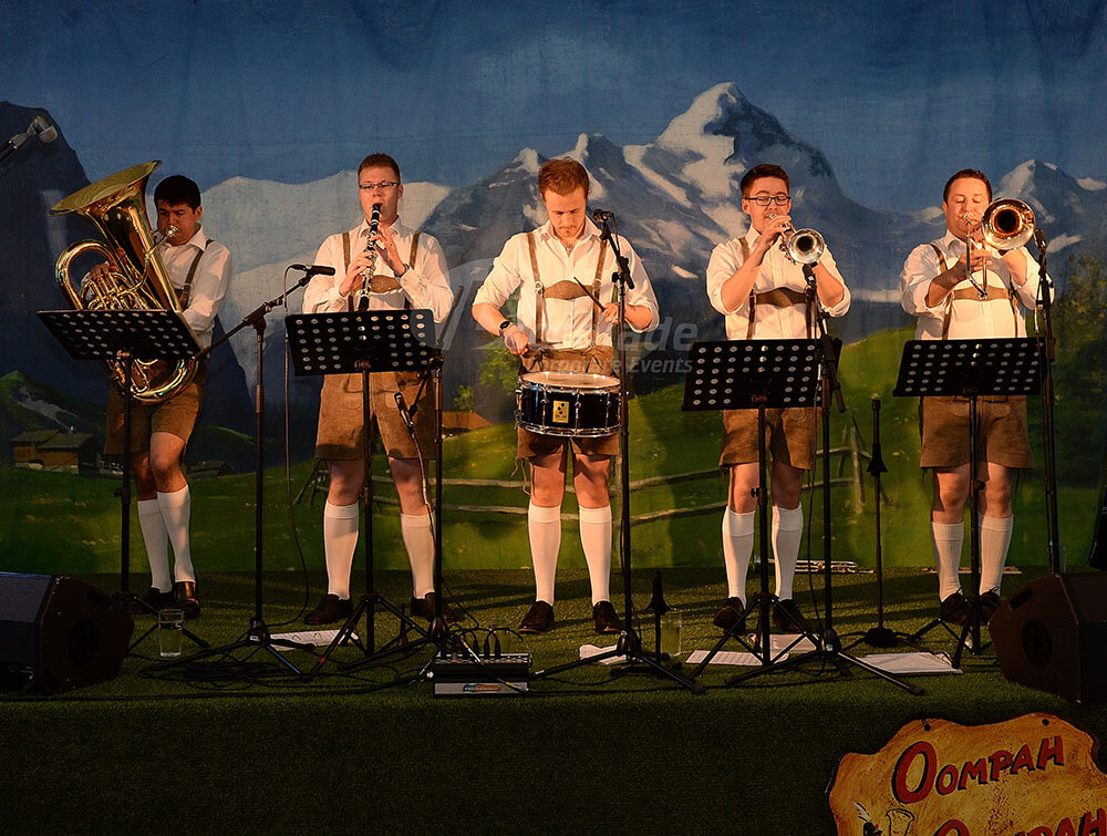 Oompah band playing at German Beer Festival event