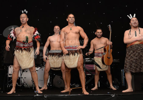 Haka masters getting ready for a demonstration
