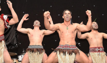Haka masters performing on stage