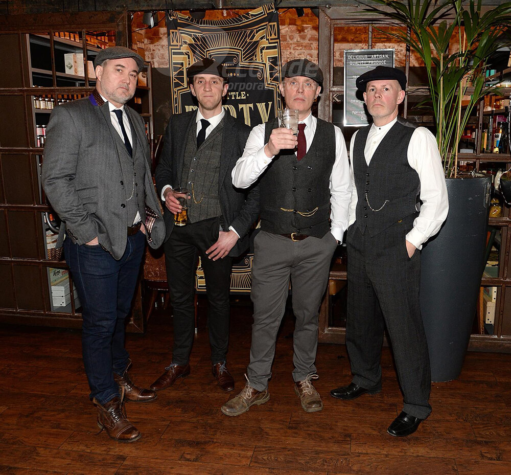 Men in Costume Peaky Blinders Corporate Event