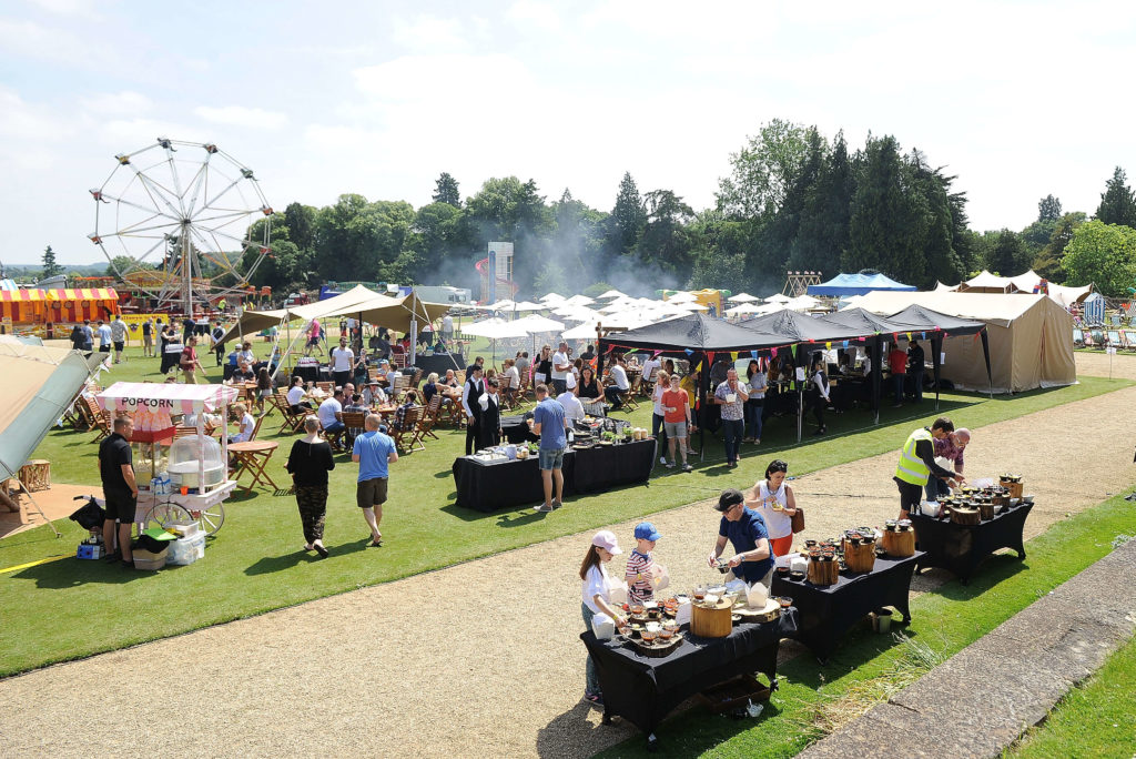 Company Fun Day Event Catering Tents