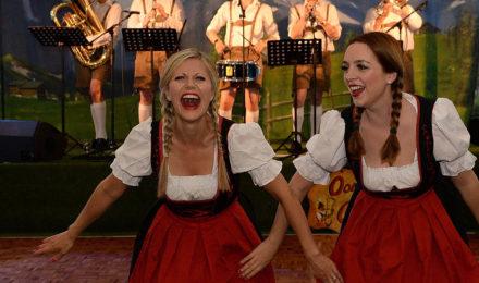 Fraulines having fun at German Beer Festival event