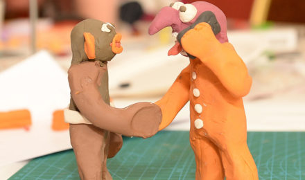 Men made out of Plasticine for Team Animation event