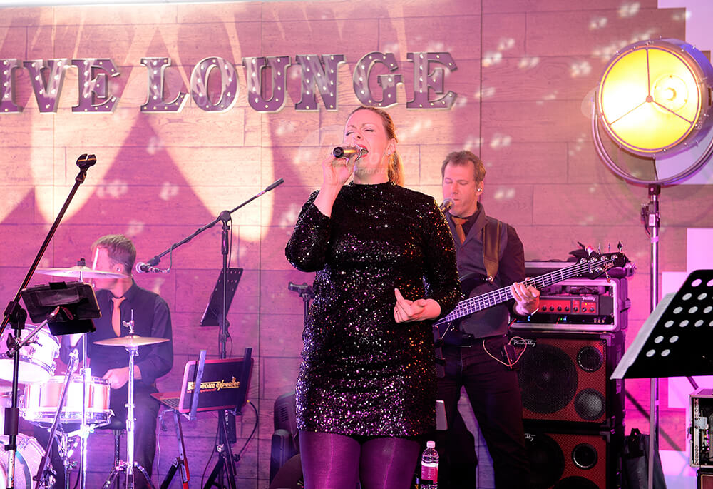 Female singer at Live Lounge Company Party