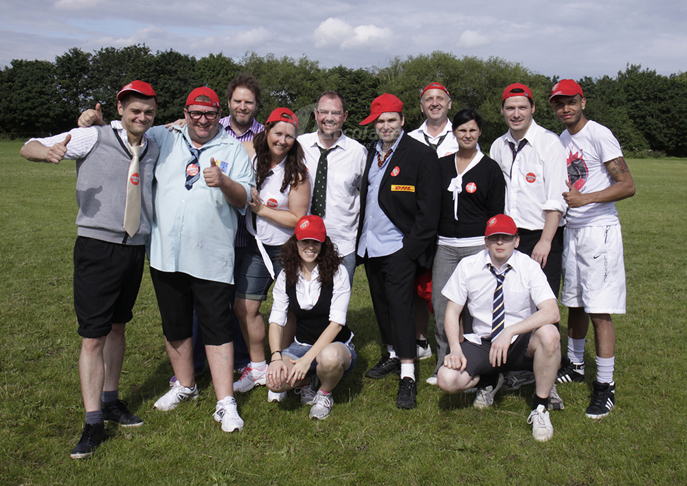 Winning team at School Sports Day team building event
