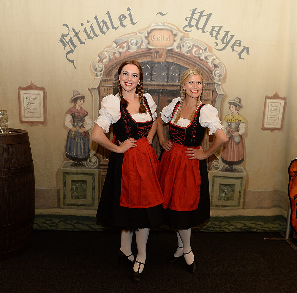 Costumed German Lady party entertainers