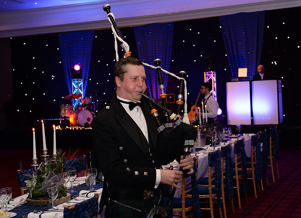 Bagpiper for corporate events