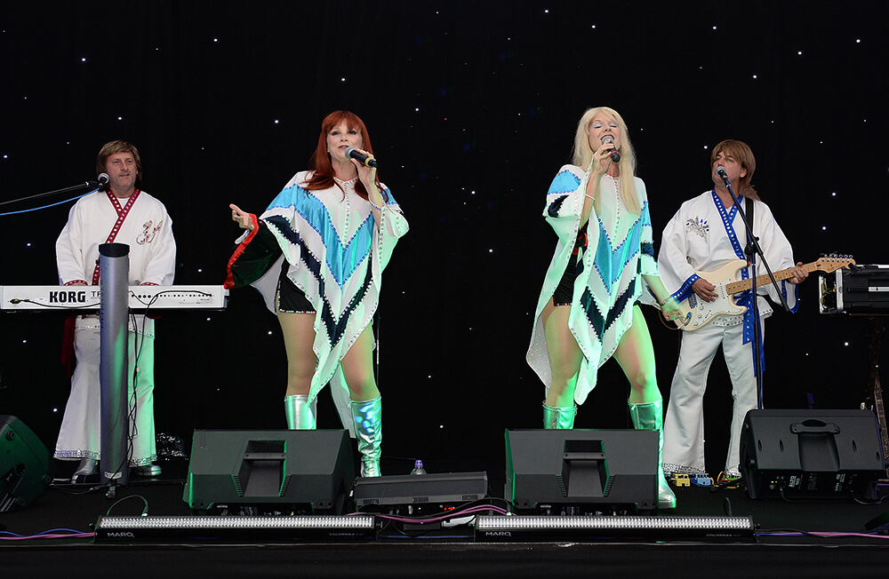 Abba tribute band at company party