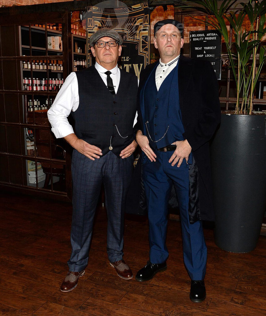 Two men posing Peaky Blinders Corporate Event
