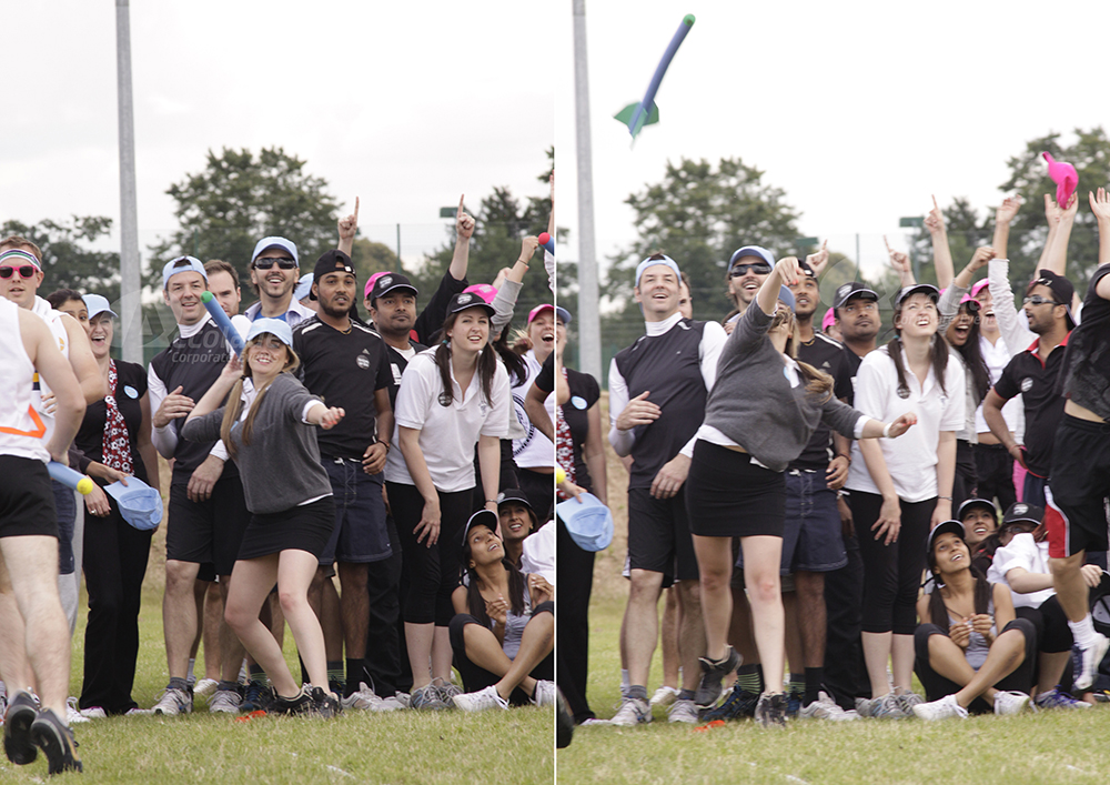 Throwing the javelin at a School Sports Day team building event