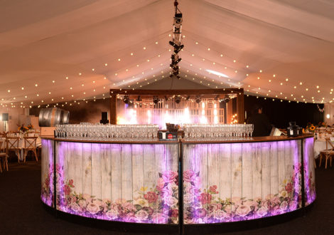Themed party night showing beautiful bar and lighting