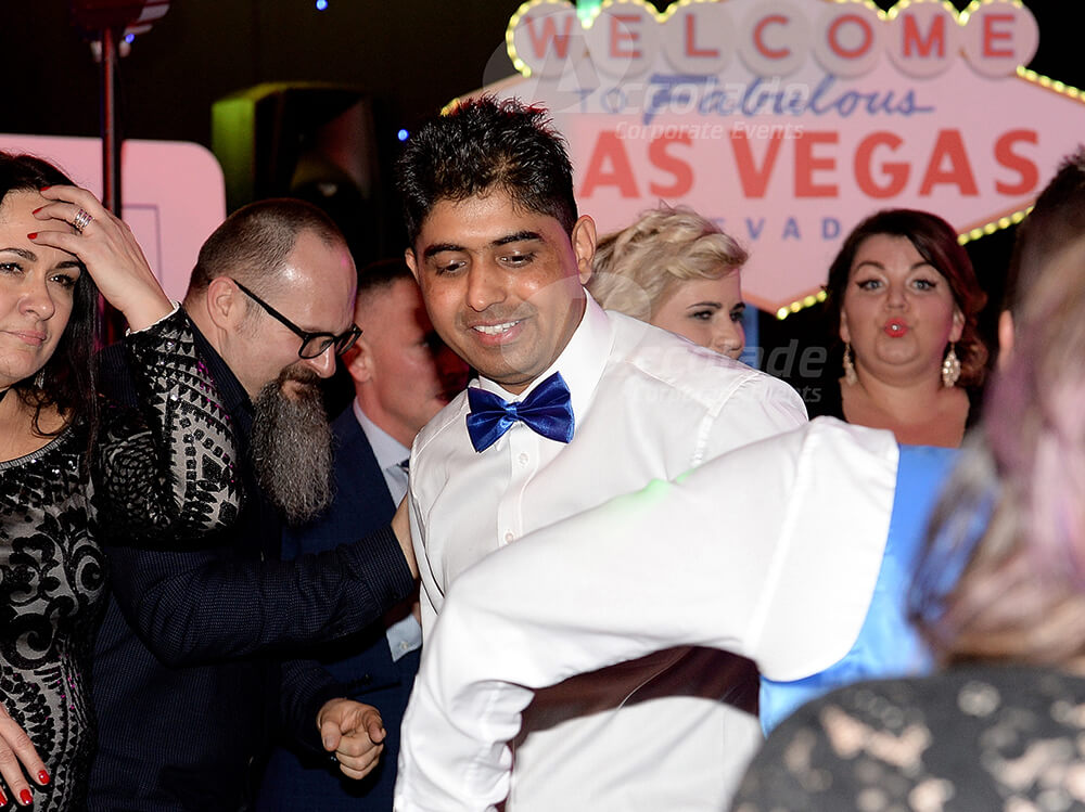 People enjoying a Viva Las Vegas company party