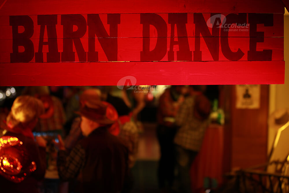 Barn Dance Sign Wild West Party Event
