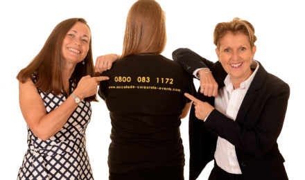 Accolade team - contact us - pointing to a tel number