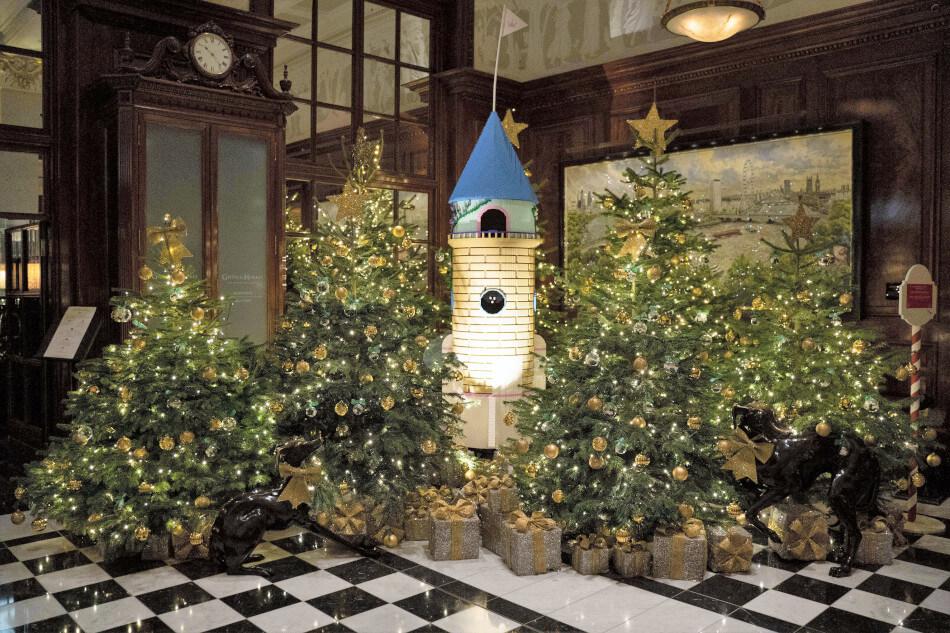 christmas trees at the savoy